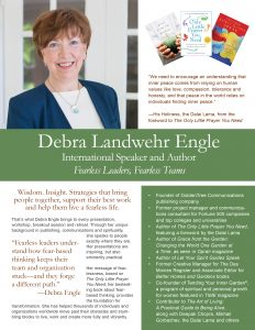 Deb Engle corporate brochure July 27 cover