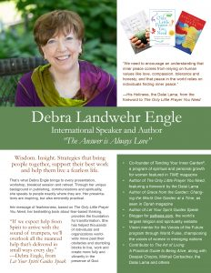 Deb Engle one-sheet churches and spiritual centers July 27 cover page