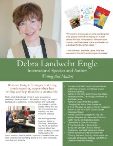 Deb Engle writing conferences brochure July 27 cover